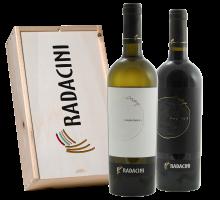 Radacini Vintage Chardonnay & Pinot Noir (in Geschenkkist)